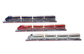 B/O PVC cover electric train (including batteries)