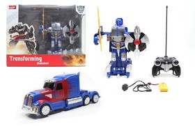 2.4G optimus prime R/C transformer cars with little controller including battery and USB charger