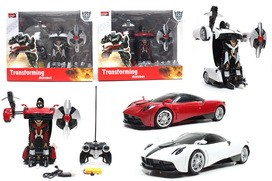 2.4G Pagani R/C transformer cars with little controller including battery and USB charger