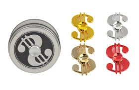 Alloy skulls Spinner Red/Silver/Yellow mixed