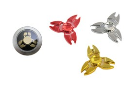 Alloy Spinner /Red/Silver/Golden mixed