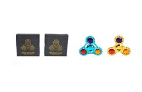 ALLOY SPINNER(YELLOW/BLUE MIX)
