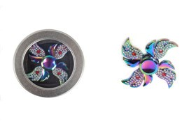 Alloy+cut resin drill fidget widget