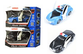 27MHZ 1:18 RC Police Car/4-channel,hit open doors