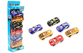 PULL BACK POLICE CAR(6PCS)