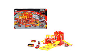 DIE CAST FIRE PACKING LOT SET