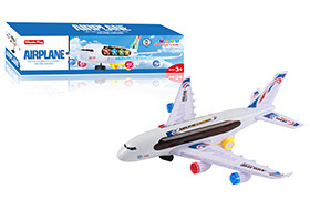 BO Air Plane/bump&go,light,sound