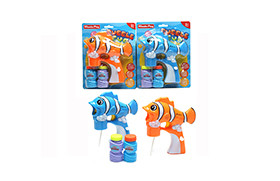 Clown Fish BO Bubble Gun/light,music,2 water,battery included