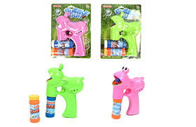 Frog BO Bubble Gun/light,music,2 water,battery included