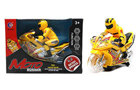 Electric music motorcycle (red/yellow color)