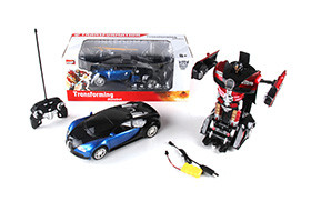 Bugatti electric R/C deformation robot + small controller (including battery and charger)