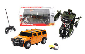 Hummer H2 electric R/C deformation robot + small controller (including battery and charger)