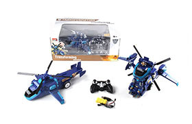 R/C deformation robot  Plane electric+ 2.4G small controller (including battery and charger)