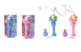 B/O Bubble Wand With Light /Music /Liquid Bottle