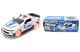 1:18 B/O Police Car with Light /Music /Openable Door